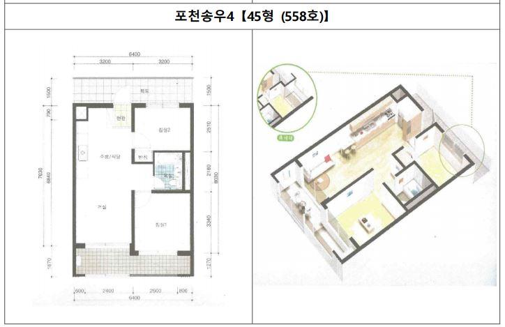 포천송우4단지 국민임대주택 평면도2