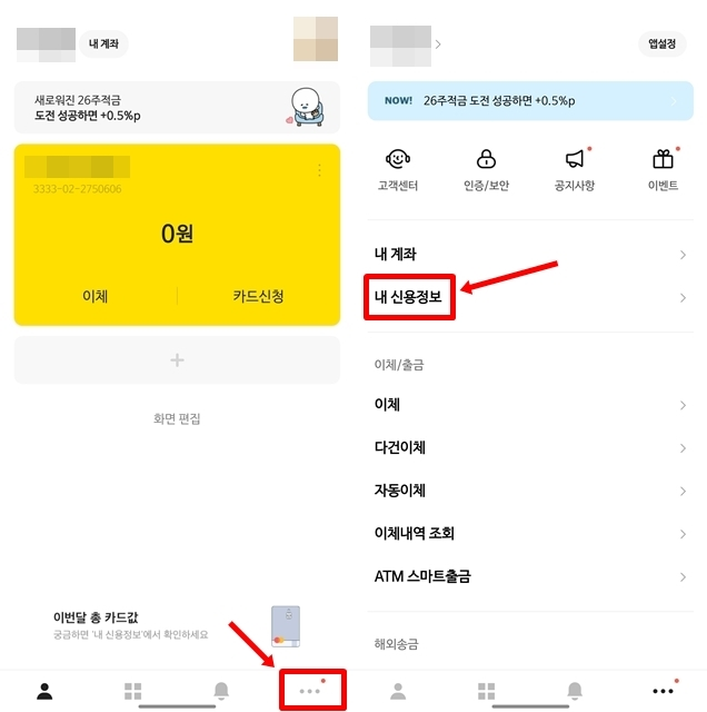 카카오뱅크 신용정보 조회1