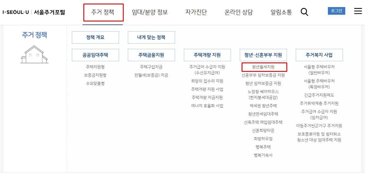 서울시 청년월세지원 신청방법2